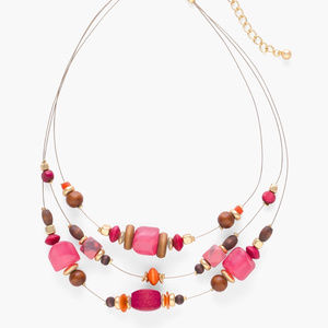 CHICO'S BRISTOL ILLUSION  NECKLACE MULTI STRAND